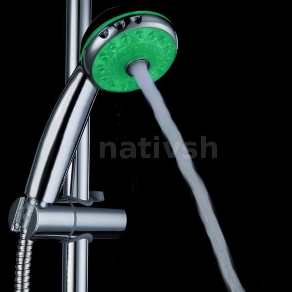 Regadera De Baño Definicion:Detalles de Ducha LED Glow Agua Cabeza RGB sensor de temperatura de 3
