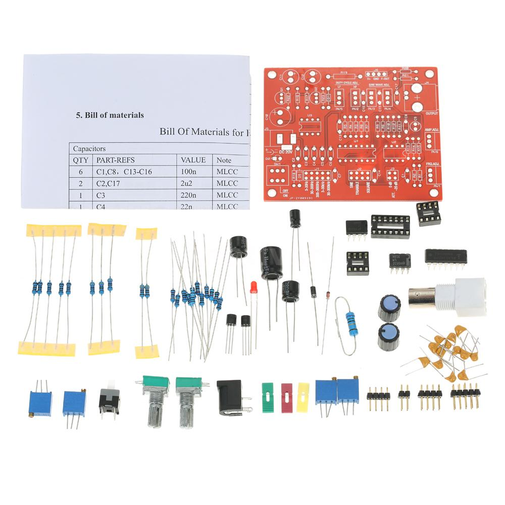 Icl8038 Function Signal Generator Diy Kit Square Triangle Sine Wave Simple Oscillator Circuit This Is Professional Product To Generate Its A For You Weld And Install